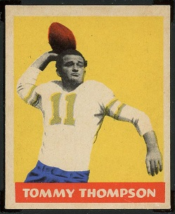 Tommy Thompson 1949 Leaf football card