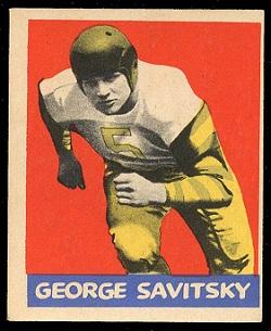 George Savitsky 1949 Leaf football card