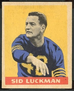 Sid Luckman 1949 Leaf football card
