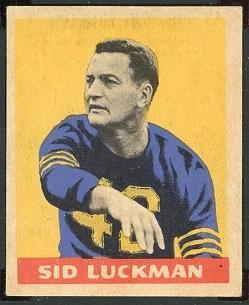 Sid Luckman 1949 Leaf football card