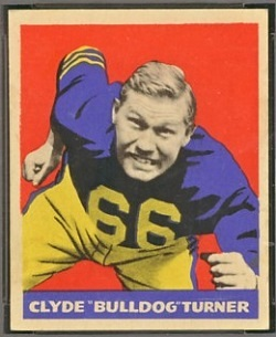 Bulldog Turner 1949 Leaf football card