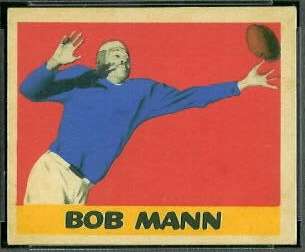 Bob Mann 1949 Leaf football card