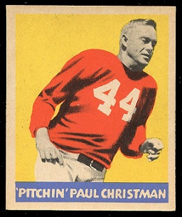 Paul Christman 1949 Leaf football card