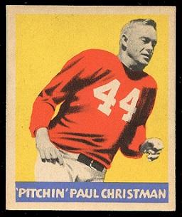 Paul Christman 1949 Leaf football card