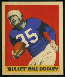 Bill Dudley 1949 Leaf football card