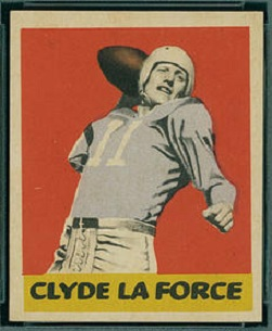 Clyde LeForce 1949 Leaf football card