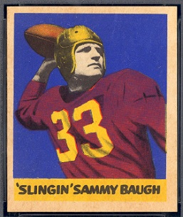 Sammy Baugh 1949 Leaf football card