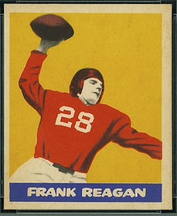 Frank Reagan 1949 Leaf football card