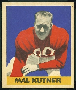 Mal Kutner 1949 Leaf football card