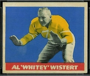 Al Wistert 1949 Leaf football card