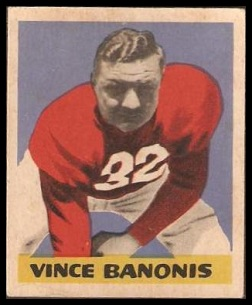 Vince Banonis 1949 Leaf football card