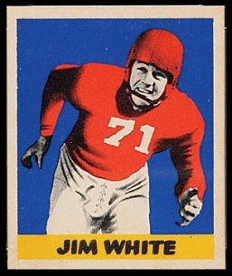 Jim White 1949 Leaf football card