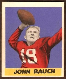 John Rauch 1949 Leaf football card