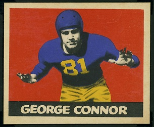 George Connor 1949 Leaf football card