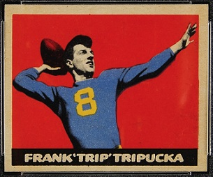 Frank Tripucka 1949 Leaf football card
