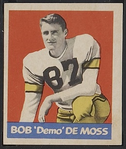 Bob DeMoss 1949 Leaf football card