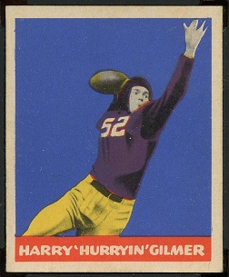 Harry Gilmer 1949 Leaf football card