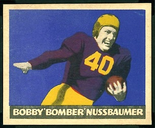Robert Nussbaumer 1949 Leaf football card