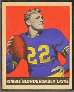 Bobby Layne 1949 Leaf football card