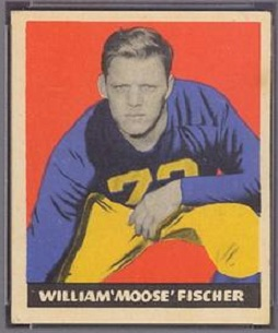 Bill Fischer 1949 Leaf football card