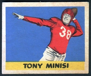 Skip Minisi 1949 Leaf football card