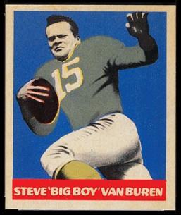 Steve Van Buren 1949 Leaf football card