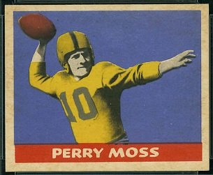 Perry Moss 1949 Leaf football card