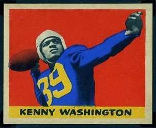 Kenny Washington 1949 Leaf football card