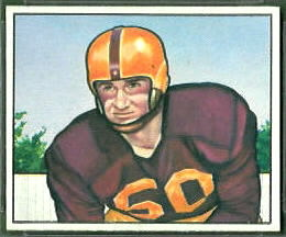 Harry Ulinski 1950 Bowman football card
