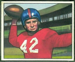 Charley Conerly 1950 Bowman football card