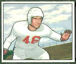 Dick Hensley 1950 Bowman football card
