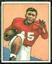 Eddie Price 1950 Bowman football card