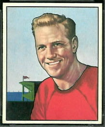 Ed Carr 1950 Bowman football card