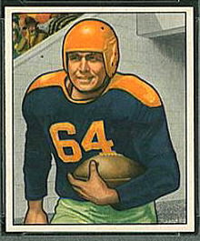 Ted Fritsch Sr. 1950 Bowman football card