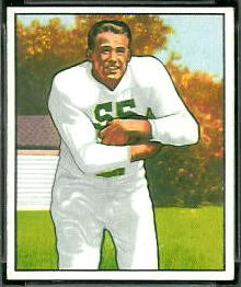 Billy Stone 1950 Bowman football card