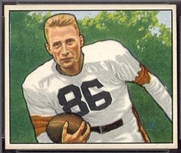 Dub Jones 1950 Bowman football card