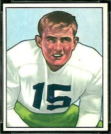 Clayton Tonnemaker 1950 Bowman football card