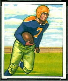 Walt Schlinkman 1950 Bowman football card