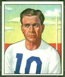 Joe Golding 1950 Bowman football card