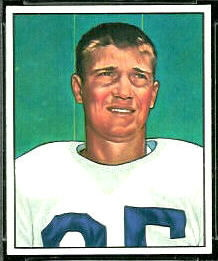 Billy Grimes 1950 Bowman football card