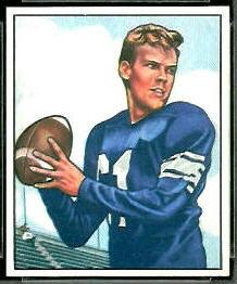 George Ratterman 1950 Bowman football card
