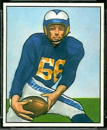 Jack Zilly 1950 Bowman football card