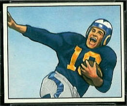 Tom Kalmanir 1950 Bowman football card