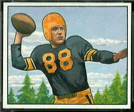 Jim Finks 1950 Bowman football card