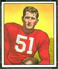 Tom Wham 1950 Bowman football card