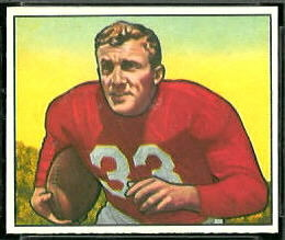 Ventan Yablonski 1950 Bowman football card