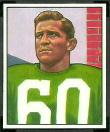 Chuck Bednarik 1950 Bowman football card