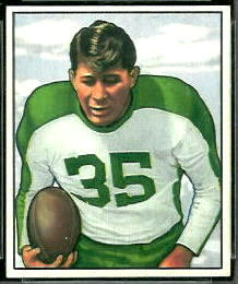Pete Pihos 1950 Bowman football card