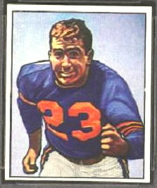 Washington Serini 1950 Bowman football card