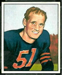 Ken Kavanaugh 1950 Bowman football card
